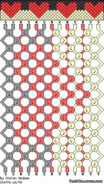 Значит схема из бисера для начинающих то, что Вам нужно.  Плетение фенечек из бисера Фенечки из бисера схемы плетения...